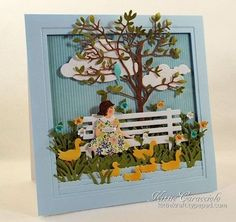 KC Impression Obsession Bench 1 right Z Cards, Paper Cards, Kids Cards, Accesorios Casual, Pretty Cards, Creative Cards, Flower Cards, Greeting Cards Handmade, Cardmaking