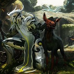 Oberon pretending to be a part of the kubrows bro's so the grineer behind him wouldn't notice. Oberon Prime, Character Concept, Concept Art, Warframe Art, Suit Of Armor, Cyberpunk, Game Art, Science Fiction, Board Games
