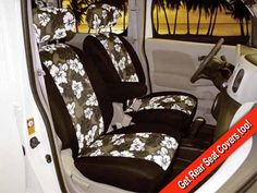 Seat Covers Unlimited manufactures the largest selection of custom seat covers for all makes and models of vehicles nationwide. Custom Fit Seat Covers, Car Stuff, Baby Car Seats, Hawaiian, Van, Vans, Vans Outfit