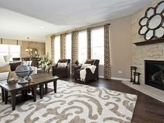 Patterned #rugs add an elegant touch to this Blackberry Creek home!