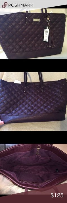 Brand New BCBC Eggplant Color Large Purse This stunning eggplant color BCBG is brand new with tags. It's large and perfect for travel. BCBG Bags Shoulder Bags