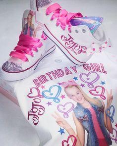 JoJo Siwa Shoes and Shirt image 1 Jojo Siwa Birthday Cake, Aaliyah Birthday, 5th Birthday Party Ideas, 8th Birthday, Summer Birthday, Birthday Tutu, Frozen Birthday, Party Themes, Jojo Siwa Outfits