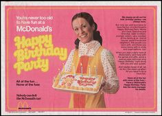 Only the rich kids had birthday parties at McDonald's. I was fortunate to be friends with a few and I got to attend!