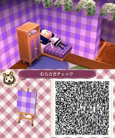 Animal Crossing QR Codes ❤ - AC New leaf qr codes - Code Wallpaper, Purple Wallpaper, Animal Crossing Pocket Camp, Animal Crossing Game, Acnl Paths, Ac New Leaf, Happy Home Designer, All About Animals, Animal Games