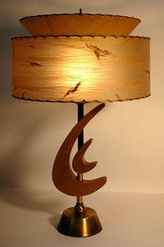 VTG MAJESTIC Z FLOOR LAMP FIBERGLASS SHADES MID CENTURY MODERN ...