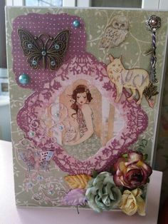 Handmade card using Santoro Willow Projects To Try, Card Making, Scrapbook, Handmade Cards, Frame, Pretty, How To Make, Inspiration, Decor