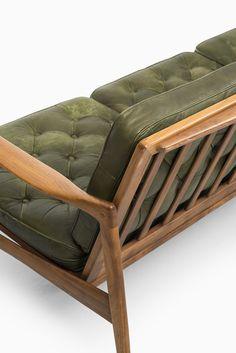 Ib Kofod-Larsen Kandidaten sofa by OPE at Studio Schalling Furniture Catalog, Furniture Upholstery, Classic Furniture, Mid Century Modern Furniture, Sofa Furniture, Furniture Design, Pallet Sofa, Wood Sofa, Wooden Sofa Designs