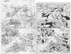 Here are both Frank Miller's pencils and Klaus Janson's inks to a page from DAREDEVIL #172.