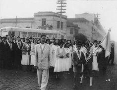 1950 - Procissão da Igreja São Rafael, no bairro da Mooca. Acervo família Bastiglia.