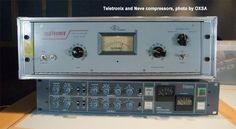 Teletronix and Neve compressors, photo by OXSA