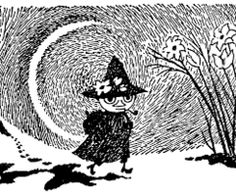 Snufkin on his way in Tove Jansson's Momin-universe