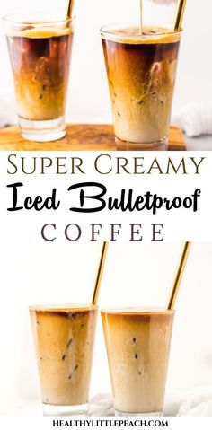 Creamy Bulletproof Iced Coffee – Healthy Little Peach A creamy bulletproof iced coffee that is sure to increase energy and brain function. This recipe is Paleo and Keto compliant and can be tailored to Healthy Iced Coffee, Vanilla Iced Coffee, Coffee Drink Recipes, Healthy Drinks, Paleo Coffee, Coffee Drinks, Coffee Coffee, Smoothies Coffee, Coffee Break