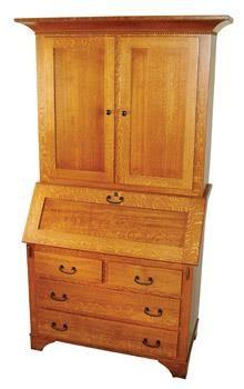 Amish Secretary Desk with Hutch Secretary Desk With Hutch, Desk Hutch, Secretary Desks, Mission Furniture, Amish Furniture, Home Decor Sites, Solid Wood Desk, Diy Home, Cabinet Makers
