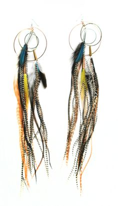 Let each vibrant color pop on these feather earrings when you walk through any door.