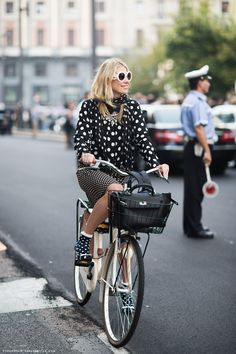 This is how you mix polka dot prints.