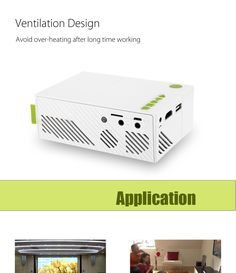 Features:- Stylish exterior in white makes it more attractive- Ventilation design, dissipates the heat produced after a long time working quickly, largely impro Best Portable Projector, Lcd Projector, Cinema Theatre, Home Theater Projectors, Home Cinemas, Business Presentation, Entertainment System, Usb, Mini
