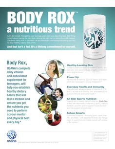 It's hard to stay nourished and healthy as a teenager! Parents- give your teen the pure nutrition of Usana's Body Rox to get them through their busy schedules, keep their brains sharp and boost their immune system! Usana Vitamins, Daily Vitamins, Health And Wellness Coach, Wellness Company, Antioxidant Supplements, Nutritional Supplements, Keeping Healthy, How To Stay Healthy, True Health