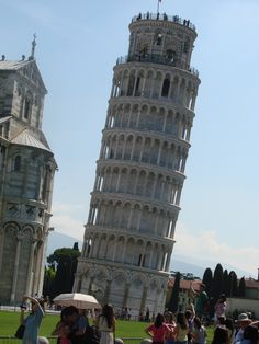 The Leaning Tower of Piza: Construction began on the Tower in 1173 and was completed in 1372, almost 200 years later.