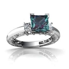 Alexandrite engagement ring - very cool stone!