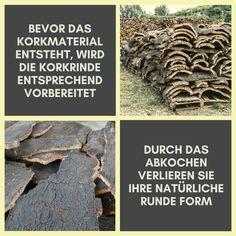 Wusstest du das? Bevor das Korkmaterial entsteht, wird die natürliche Korkrinde entsprechend vorbereitet. 💪 Die geschälte Rinde wird zunächst gestapelt gelagert um die natürliche Feuchtigkeit zu reduzieren. Danach wird sie abgekocht um Keime und Pilze abzutöten. 🦠 Dabei verliert sie durch den eigenen Druck die runde Form und wird gerade. Anschließend wird die Korkrinde zu Material verarbeitet, das für die verschiedensten Produkte verwendet wird. 👜 #Kork #Korkmaterial #Korkrinde #Verkorkst