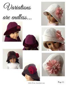 Cloche Hat 18 inch Doll Clothes PDF Pattern Download | Pixie Faire