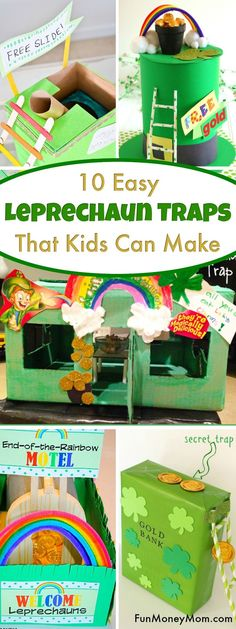 Leprechaun Traps - Want to learn how to make a leprechaun trap? These easy leprechaun trap ideas make a fun kids craft for St. Patty's Day.