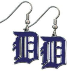 MLB Detroit Tigers Dangle Earrings - http://www.thepuppy.org/mlb-detroit-tigers-dangle-earrings/