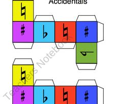 Music Theory Dice product from Solo-Time-Music-Games on TeachersNotebook.com