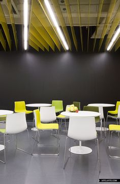 Second Yandex Office in St. Petersburg // Za Bor Architects | Afflante.com - Interesting use of tube lighting
