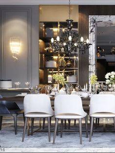 Luxury Homes Interior, Luxury Home Decor, Interior Exterior, Best Interior, Home Interior Design, Luxury Dining Room, Dining Room Design, Dining Rooms, Design Blog