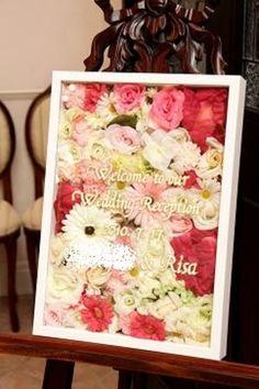 100均アイテムで作れちゃう?素敵なウェルカムボードをDIY - Locari(ロカリ) Wedding Frames, Diy Wedding, Welcome Boards, Shadow Box, Room Inspiration, Anniversary Gifts, Marriage, Deco, Flowers
