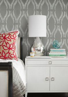 contemporary gray bedroom design