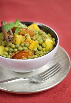 Erbseneintopf mit Curry-Würze - Vegetarische Gerichte für Feinschmecker - Kochen ohne Fleisch