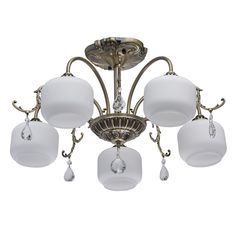 Classic Semi Flush Mount Home Loft Concept Lustre Design, Semi Flush Ceiling Lights, Dar Lighting, Messing, Antique Brass, Chandelier, Crystals, Antiques, Classic