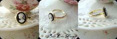 Tiny Vintage Cameo Ring <3