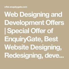 Web Designing and Development Offers | Special Offer of EnquiryGate, Best Website Designing, Redesigning, development, Maintenance Offer, Business Offers, Best Advertising Offers, Google Adwords, Pay per click, ppc | Enquiry Gate