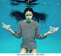 Girl Two Paper Boats Stockfoto (redigera nu) 92679052 Power Walking, Find Girls, Underwater Photos, Photography Women, Photo Editing, Royalty Free Stock Photos, One Piece, Boat, Paper