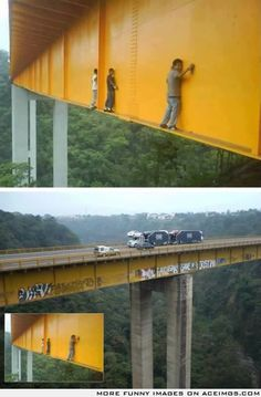 Someone asked how people do graffiti on bridges. Lmfao dam Pablo,Juan and flipe!