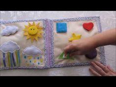 Quiet Book - Meu Primeiro Livro #3 ( Alyssa Vivian ) - YouTube Book Libros, Book Quilt, Busy Book, Alice, Quilts, Books, Quiet Books, Quiet Books, Felt Toys