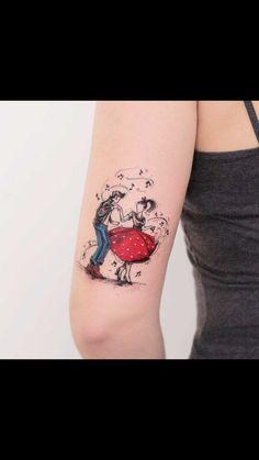 back arm tattoo rockabilly Pretty Tattoos, Sexy Tattoos, Unique Tattoos, Beautiful Tattoos, Body Art Tattoos, Beautiful Drawings, Tatoos, Artistic Tattoos, Mini Tattoos