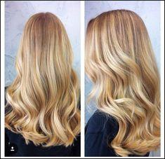 Bright Golden Blonde Balayage Beach Hair More | Hair styles I want ... | Einfache Frisuren