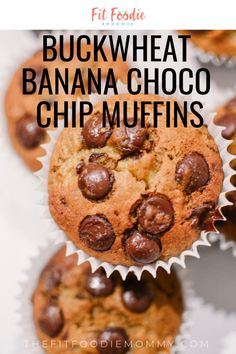 Buckwheat Banana Chocolate Chip Muffins - Fit Foodie Mommy - Buckwheat Banana C. Buckwheat Banana Chocolate Chip Muffins – Fit Foodie Mommy – Buckwheat Banana Chocolate Chip M Buckwheat Muffins, Buckwheat Recipes, Buckwheat Bread, Banana Chocolate Chip Muffins, Chocolate Oatmeal, Healthy Banana Recipes, Healthy Baking, Clean Eating Muffins