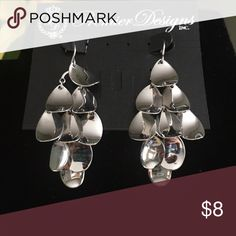 Premier Designs Mirror Image Earrings Mirror Image by Premier Design rhodium plated fish hook earrings Premier Designs Jewelry Earrings