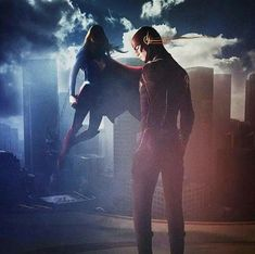 Supergirl and flash