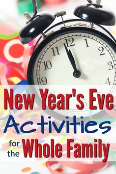 New Year's Eve Activities for the Whole Family - 2019 Neujahr New Year's Eve Games For Family, Family New Years Eve, New Year's Games, New Years Eve Party Ideas For Family, Kid Games, New Years Eve Music, New Years Eve Games, Happy New Years Eve, New Year's Eve Celebrations