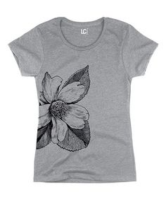 Another great find on #zulily! Athletic Heather Flower Fitted Tee #zulilyfinds