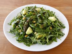Roasted Asparagus, Avocado and Arugula Salad - Healthy Flavorful Recipe