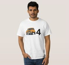 Orange Renault 4L from 80's. #french #france #automobiles #car #automobile #classiccars #illustration #80s #tshirt #tshirts #redbubble #vintage #orange #auto #zazzle #renault #renault4 #renault4l #renaultr4