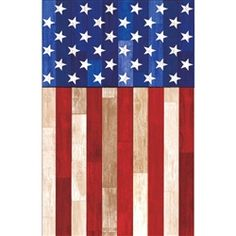 Old Glory Plastic Table Cover - PartyCheap