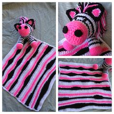 Ravelry: Zebra Lovey Crochet pattern by Tiffany Ratzman.